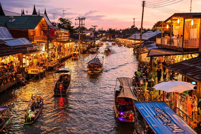 Maeklong Railway market and Amphawa floating market tour